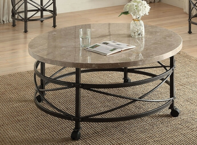 Magnificent Fashionable Marble And Metal Coffee Tables Within Nestor Collection Marble (Image 30 of 40)