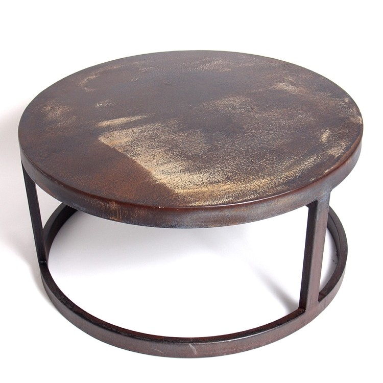 Magnificent Fashionable Round Steel Coffee Tables Within Creative Of Round Iron Coffee Table Round Metal Coffee Table With (Image 35 of 50)