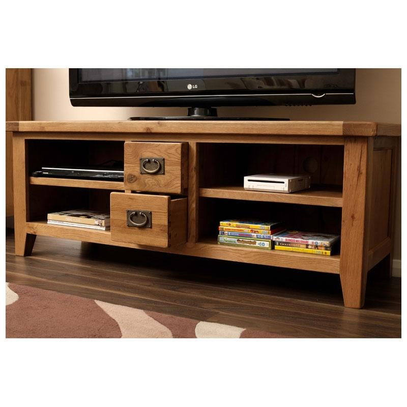 Magnificent Fashionable Rustic Wood TV Cabinets Pertaining To 50 Off Oak Tv Stands Units Cabinets Home Furniture Land Uk (View 8 of 50)