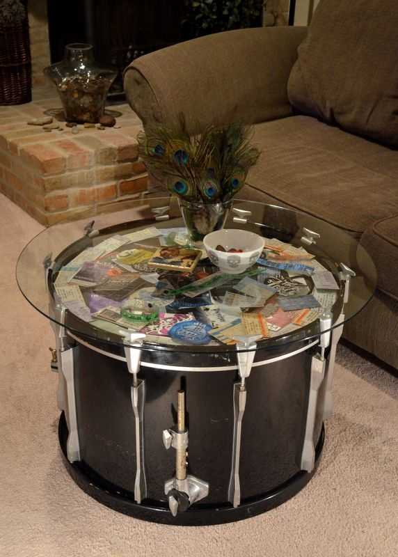 Magnificent Fashionable Silver Drum Coffee Tables Intended For Best 25 Drum Table Ideas Only On Pinterest Music Studio Decor (Image 33 of 50)