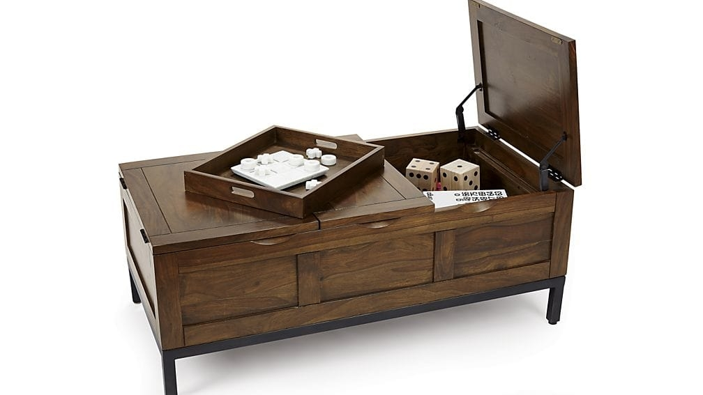 Magnificent Fashionable Trunk Coffee Tables With Regard To Tucker Rectangular Trunk Crate And Barrel (View 7 of 50)