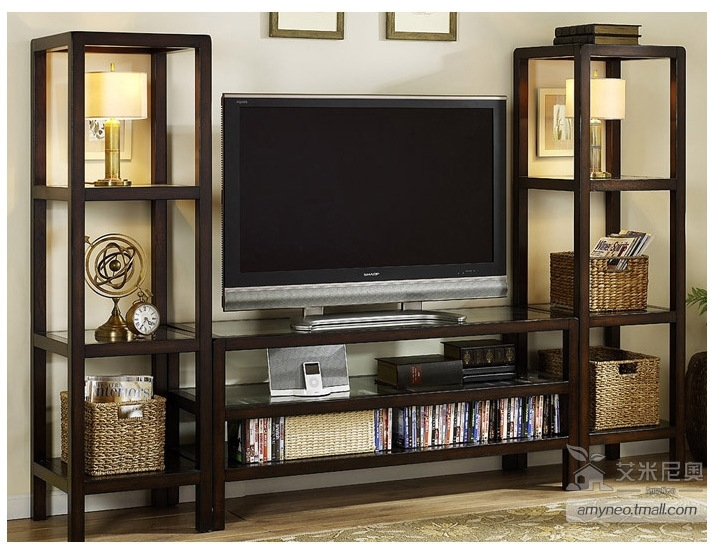 Magnificent Fashionable TV Cabinets With Storage Pertaining To American Country Style Tv Cabinet Wardrobe Combination Storage (View 20 of 50)
