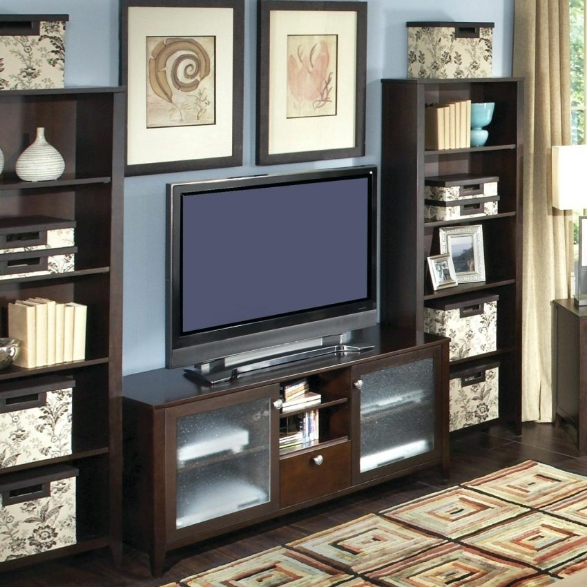 Magnificent Fashionable TV Stands With Matching Bookcases Within Tv Stands Outstanding Modern Bookcase Stand Combo Photo Within (View 9 of 50)