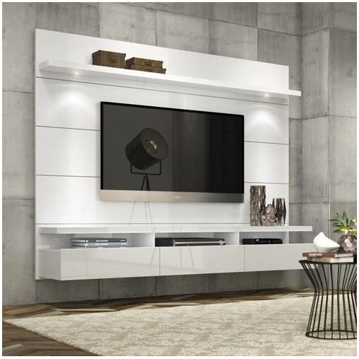 Magnificent Fashionable Wall Mounted TV Stands For Flat Screens Regarding Sonama Oak Led Plasma Flat Screen Tv Stand Entertainment Cabinet (Image 31 of 50)