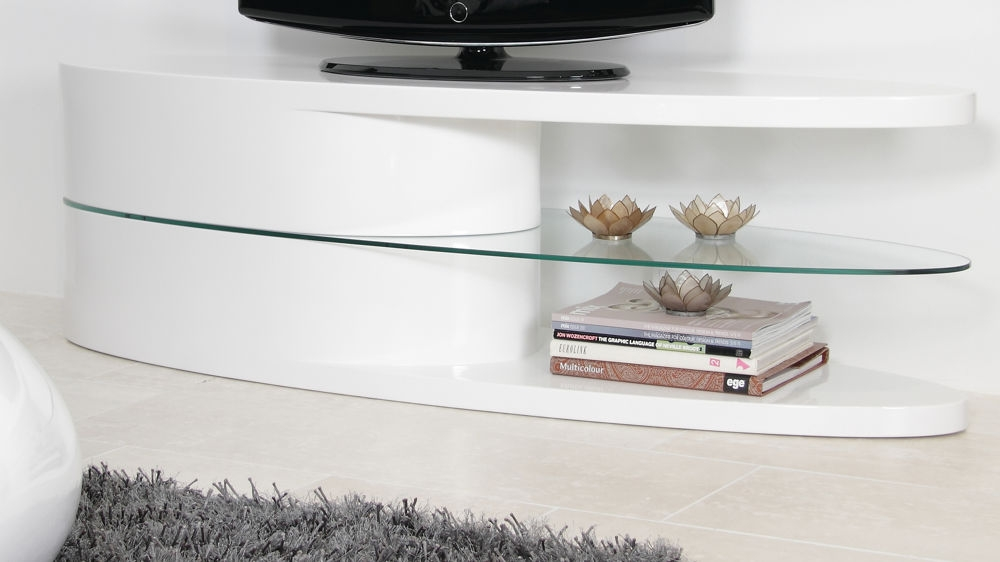 Magnificent Fashionable White Oval TV Stands With Tv Units White Gloss Interesting Tv Units White Gloss With Tv (Image 39 of 50)