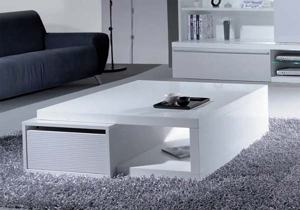 Magnificent Fashionable White Square Coffee Table In White High Gloss Square Coffee Table Coffee Addicts (Image 30 of 50)