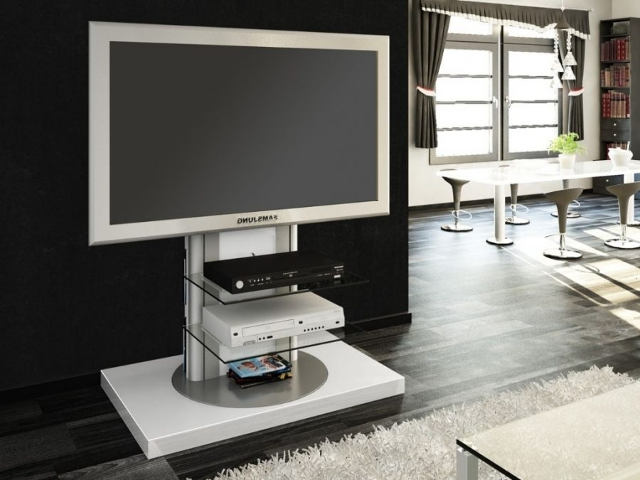 Magnificent Fashionable White TV Stands For Flat Screens Pertaining To Tv Stands Interesting Tv Stands With Mounts For Flat Screens (Image 38 of 50)