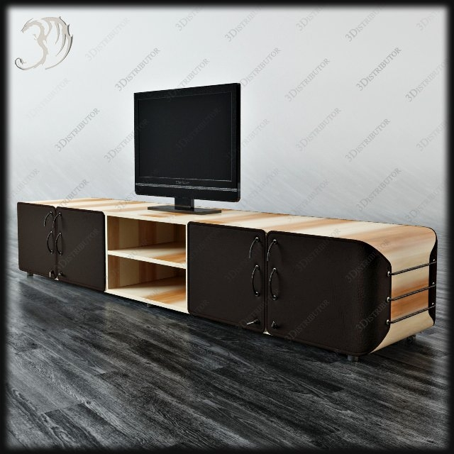 Magnificent Favorite Art Deco TV Stands Intended For Saint Babila Saint Babila Bag Mobile Tv 3d Model 3distributor (Image 35 of 50)