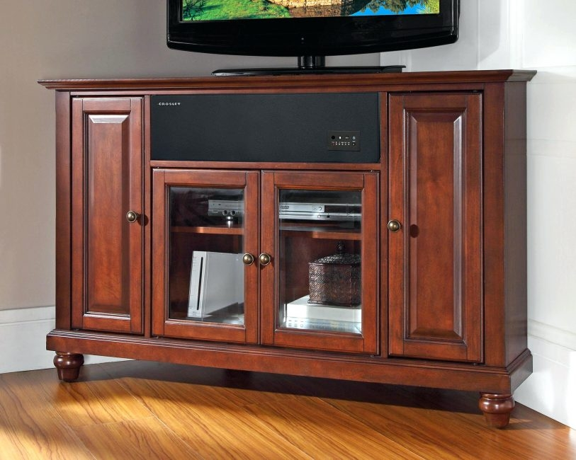 Magnificent Favorite Cherry Wood TV Cabinets In Wood Corner Tv Stand Flideco (View 22 of 50)