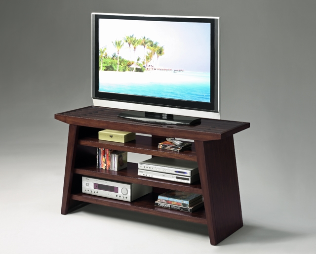 Magnificent Favorite Cherry Wood TV Stands Regarding 32h Modern Design Wood Tv Stand Withtampered Glass Top Dark (Image 38 of 50)
