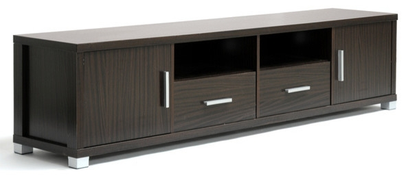 Magnificent Favorite Dark Wood TV Cabinets With Regard To Gerhardine Dark Brown Wood Tv Cabinet (View 8 of 50)