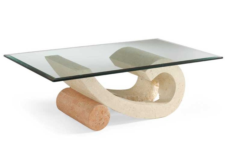 Magnificent Favorite Glass And Stone Coffee Table Within Cool Inspiration Stone And Glass Coffee Tables Ideas Stone Base (Image 31 of 50)