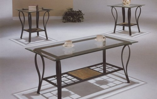 Magnificent Favorite Metal Coffee Tables With Glass Top Regarding Glass And Metal Coffee Table Sets (Image 33 of 50)