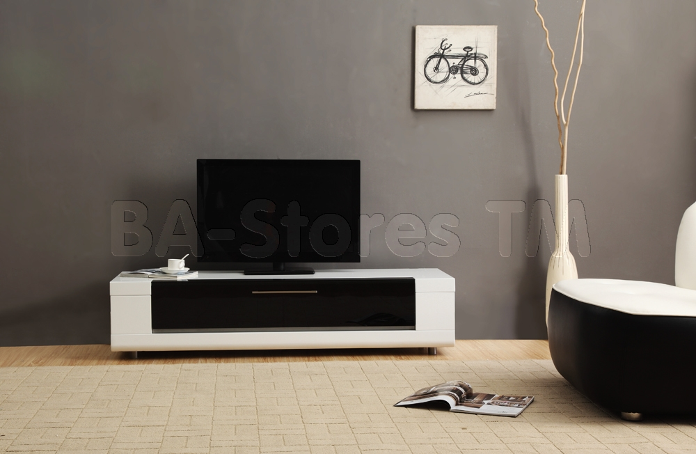 Magnificent Favorite Modern Black TV Stands Inside B Modern Editor Remix Mini Tv Stand White High Gloss Modern Tv (Image 33 of 50)