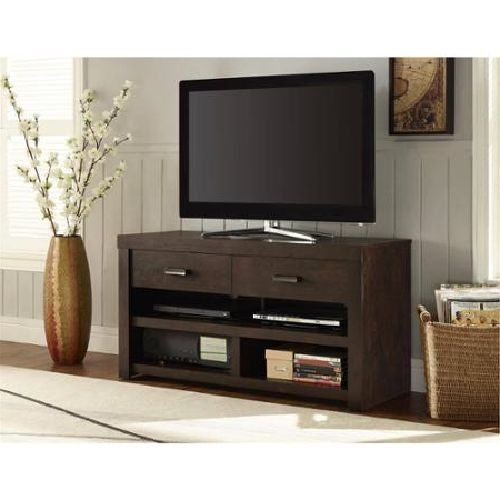 Magnificent Favorite Modern TV Cabinets For Flat Screens Pertaining To Walnut Tv Stand Flat Screen Entertainment Table Media Center (Image 36 of 50)