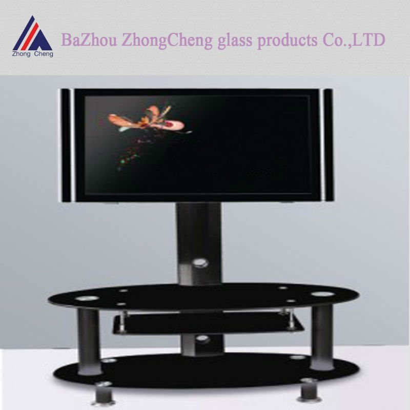 Magnificent Favorite Rectangular TV Stands Within Modern Black Rectangle Tv Stand Buy Glass Tv Standmetal Tv (Image 35 of 50)
