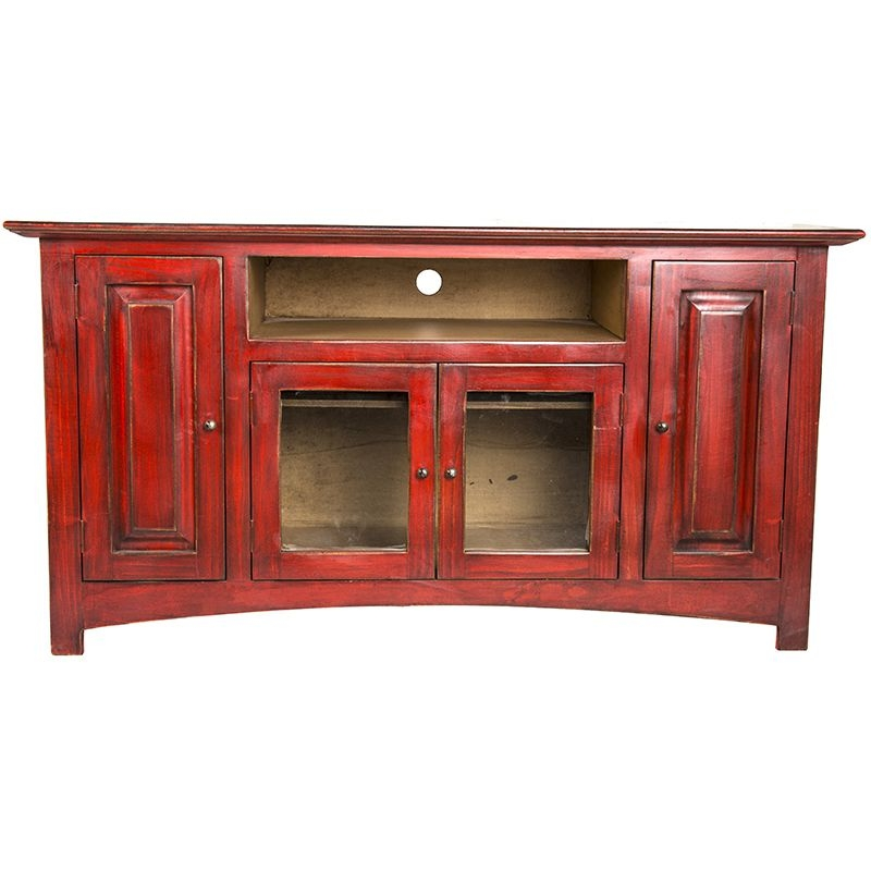 Magnificent Favorite Red TV Stands Regarding Shop Lmt Rustic Red Color Wash Tv Stand (Image 35 of 50)
