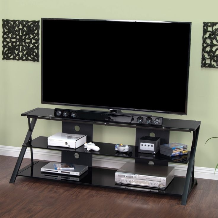 Magnificent Favorite Sleek TV Stands Pertaining To 25 Best Calico Designs Modern Metal Glass Tv Stands Studio (View 43 of 50)