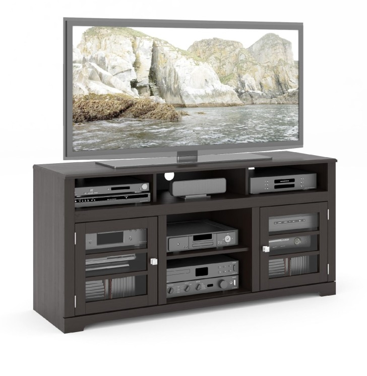Magnificent Favorite Small Black TV Cabinets With Short Glass Door Black Wooden Tv Cabinets With Base For Corner (Image 30 of 50)