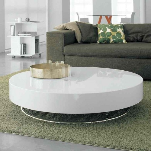 Magnificent Favorite White Circle Coffee Tables Pertaining To Circular Coffee Table (Image 34 of 50)