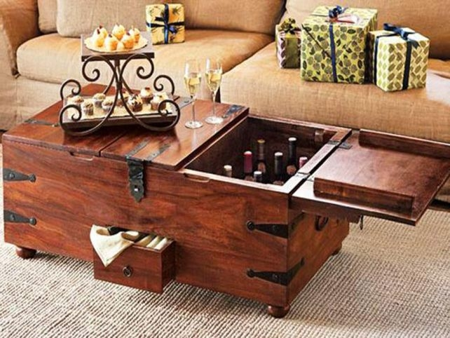 Magnificent Favorite Wooden Storage Coffee Tables With Regard To Rectagular Old Fashioned Wooden Coffee Table With Storage And Drawers (Image 33 of 50)