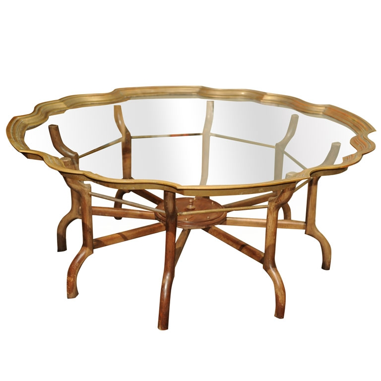 Magnificent High Quality Antique Brass Glass Coffee Tables In Vintage Brass Glass Coffee Table Ideas (Image 36 of 50)