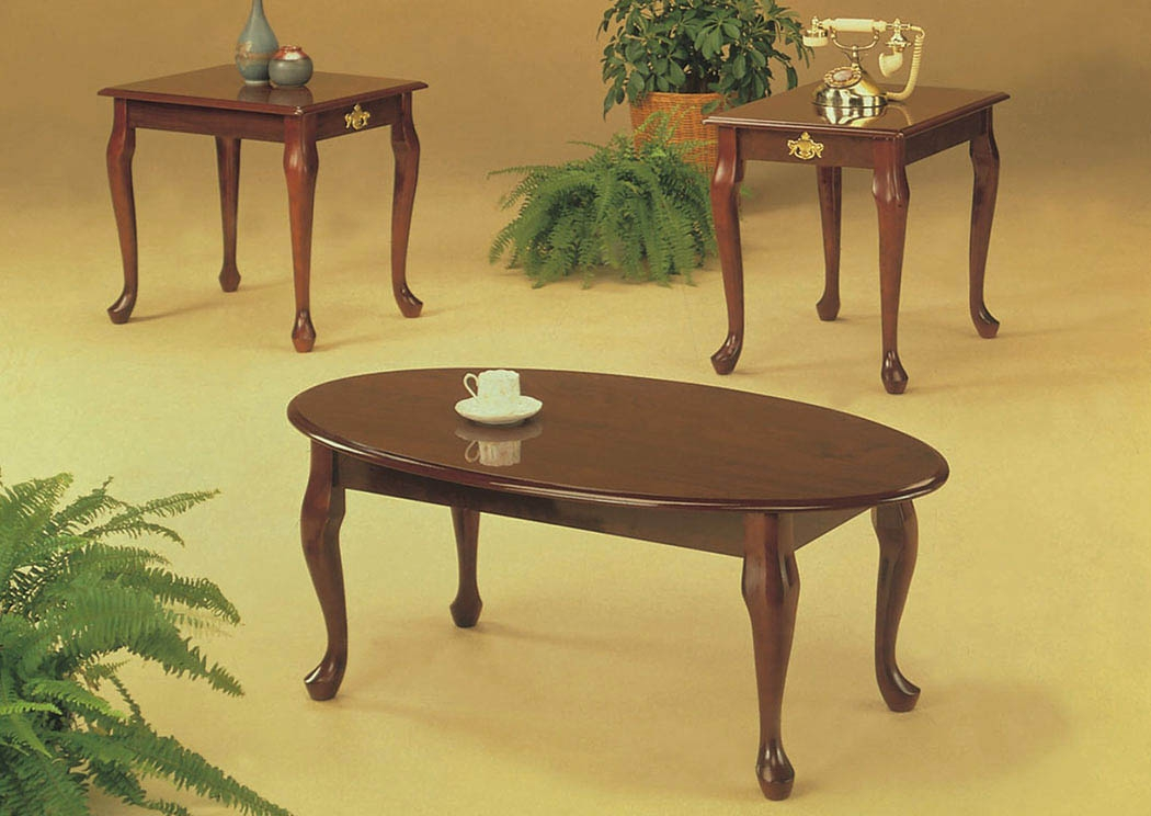 Magnificent High Quality Cherry Wood Coffee Table Sets Intended For Roses Flooring And Furniture 3pc Cherry Queen Anne Coffee End (Image 38 of 50)
