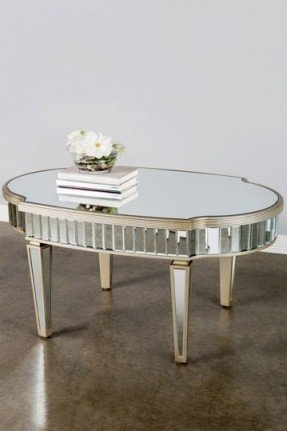 Magnificent High Quality Coffee Tables With Oval Shape With Regard To Oval Mirrored Coffee Table Foter (Image 38 of 50)