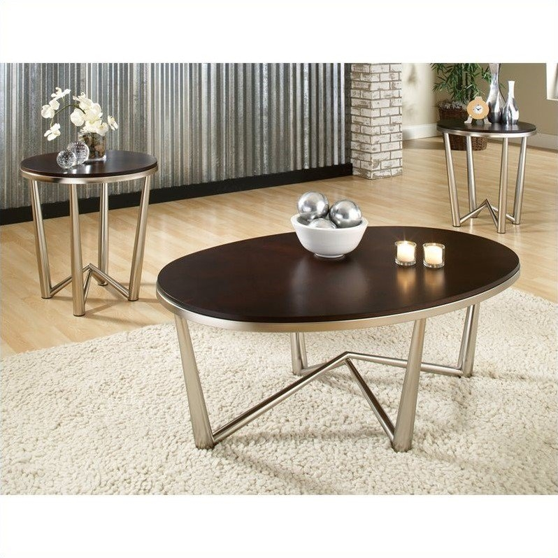 Magnificent High Quality Cosmo Coffee Tables For Steve Silver Company Cosmo 3 Piece Modern Cocktail And End Table (View 35 of 50)