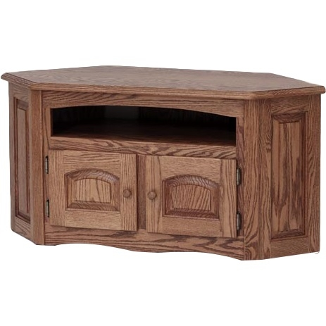 Magnificent High Quality Country Style TV Stands Intended For Solid Oak Country Style Corner Tv Standcabinet 41 The Oak (View 36 of 50)