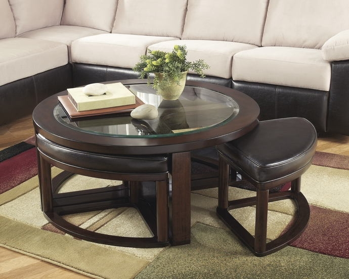 Magnificent High Quality Dark Wood Coffee Tables With Glass Top Regarding Marion Collection Dark (Image 34 of 50)