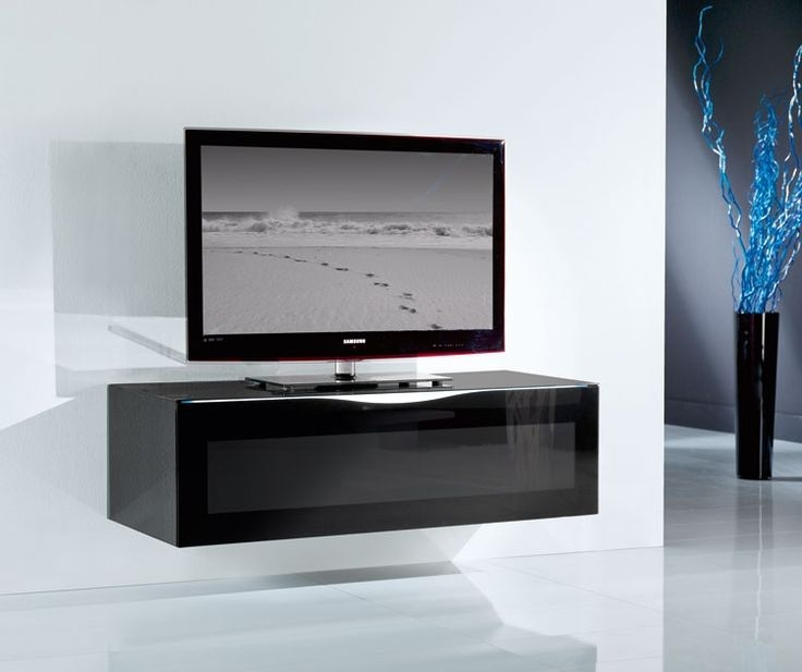 Magnificent High Quality Floating Glass TV Stands Intended For Tv Stands Amusing Black Tempered Glass Tv Stand 2017 Design Best (Image 31 of 50)