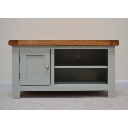 Magnificent High Quality Green TV Stands Regarding Sea Green Oak Tv Stand Entertainment Unit (Image 33 of 50)