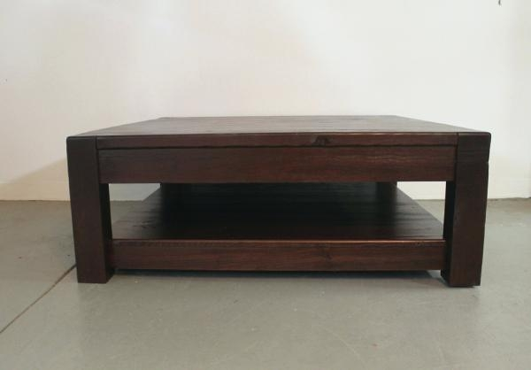 Magnificent High Quality Large Coffee Tables With Storage Intended For Square Wood Coffee Tables Blackbeardesignco (Image 35 of 50)