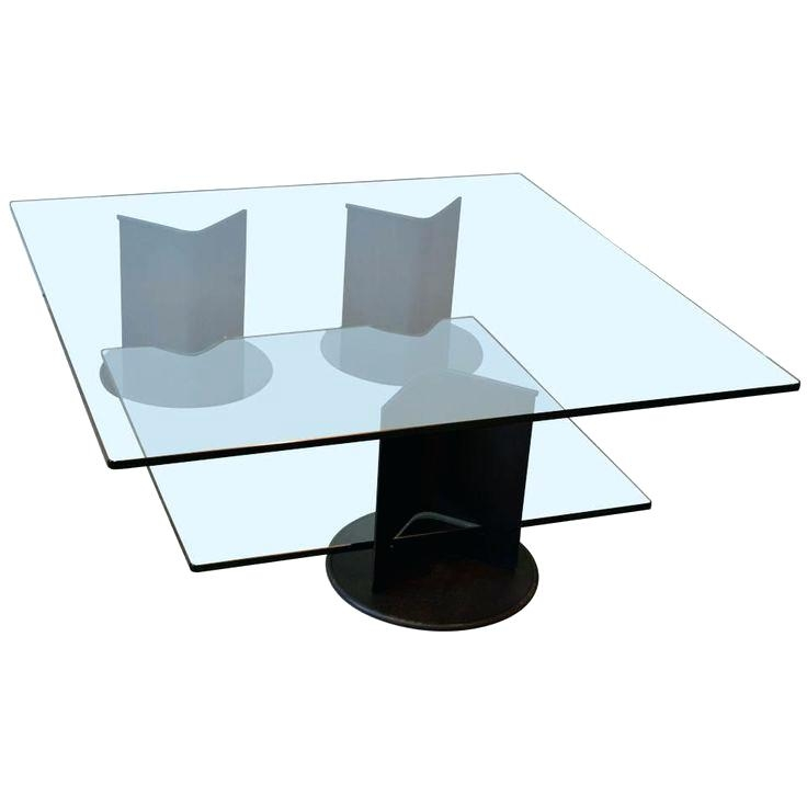 Magnificent High Quality Large Square Glass Coffee Tables Pertaining To Two Tier Glass Coffee Table Blackbeardesignco (Image 40 of 50)
