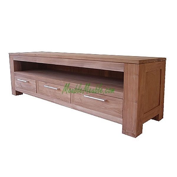 Magnificent High Quality Long Low TV Stands Pertaining To Reclaimed Teak Tv Stand Long 3d Recycled Teak And Reclaimed Wood (Image 32 of 50)