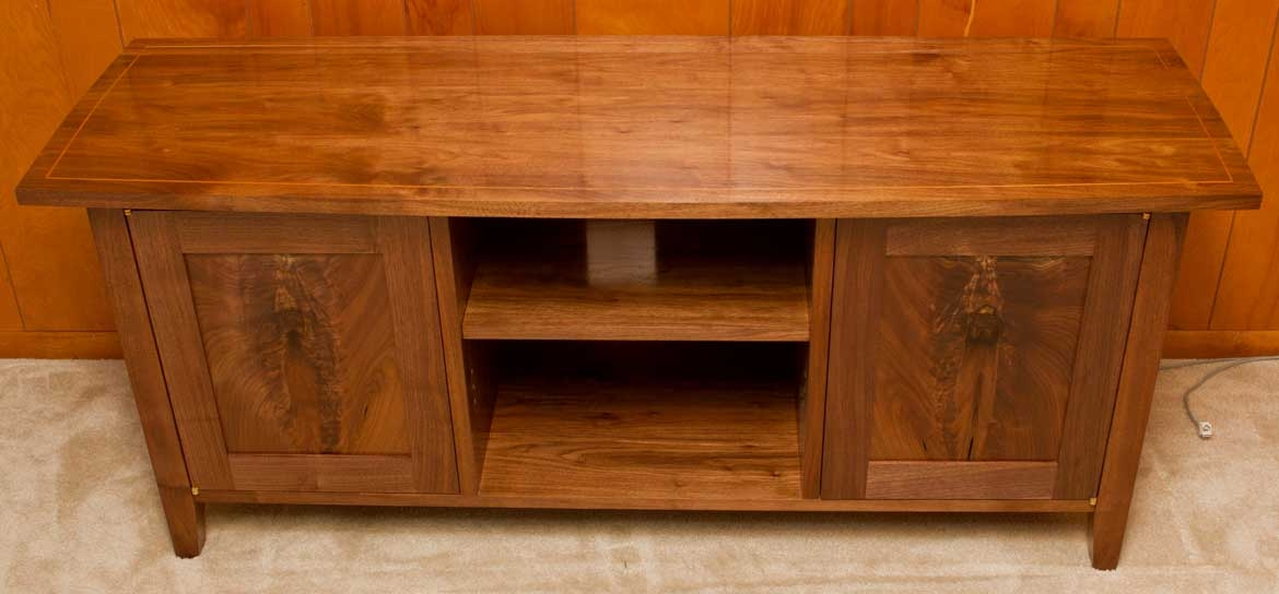 Magnificent High Quality Maple TV Stands Intended For Matt Cremona Walnut Tv Stand (Image 38 of 50)