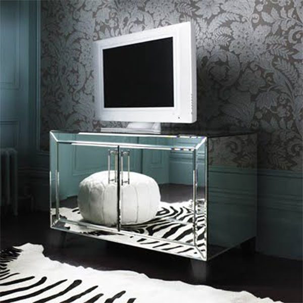 Magnificent High Quality Mirrored TV Cabinets Inside Mirrored Tv Cabinet Living Room Furniture Living Room Design (View 45 of 50)