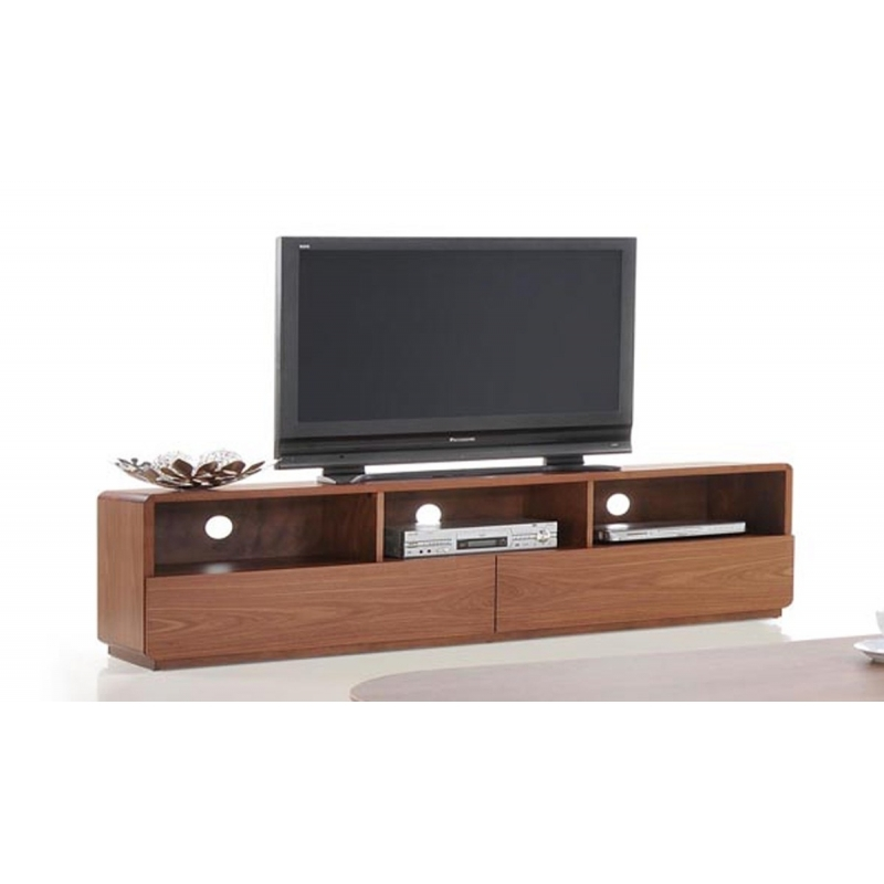 Magnificent High Quality Modern Walnut TV Stands With Buy The Modrest Jett Modern Walnut Tv Stand Vig Furniture (View 27 of 50)