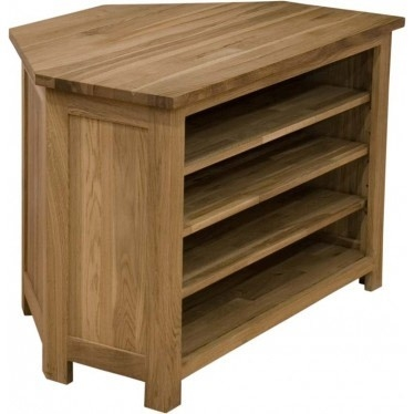 Magnificent High Quality Oak Corner TV Stands In Edinburgh Solid Oak Corner Tv Stand Ideal Home Show Shop (Image 41 of 50)