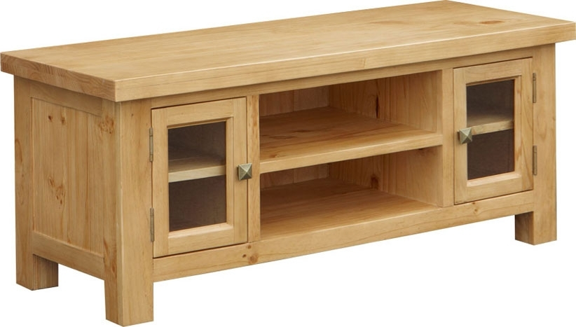 Magnificent High Quality Pine TV Cabinets For Midway Pine Large Tv Unit Oak Furniture Solutions (Image 32 of 50)