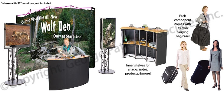 Magnificent High Quality Pop Up TV Stands With Regard To Trade Show Booth Design Tv Stand Pop Up Mural (Image 33 of 50)