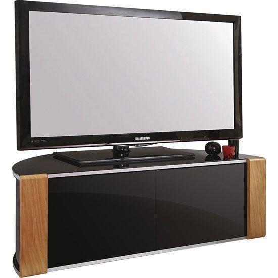 Magnificent High Quality Rectangular TV Stands Regarding Best 25 Black Glass Tv Stand Ideas On Pinterest Penthouse Tv (Image 36 of 50)