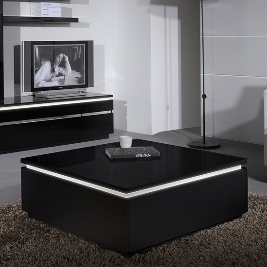 Magnificent High Quality Square Black Coffee Tables Throughout Black Coffee Table Mainittu Torille Black Coffee View In Gallery (View 21 of 40)