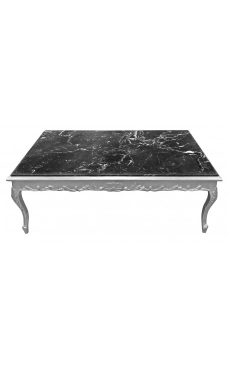 Magnificent Latest Baroque Coffee Tables Throughout Coffee Table Baroque Style Silvered Wood And Black Marble (View 47 of 50)