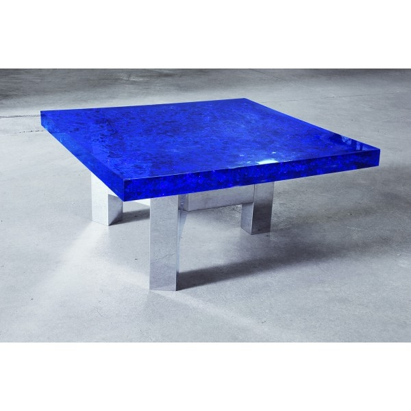 Magnificent Latest Blue Coffee Tables Intended For Lucite Coffee Table With Deep Blue Murano Glass Nickel Plated (Image 36 of 50)