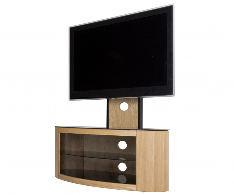 Magnificent Latest Cantilever TV Stands With Regard To Avf Buckingham Oak Cantilever Tv Stand For Up To  (Image 33 of 50)