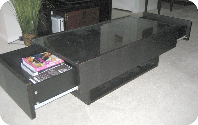 Magnificent Latest Coffee Tables With Glass Top Display Drawer Intended For Ikea Coffee Table Glass Top Roselawnlutheran (Image 26 of 40)