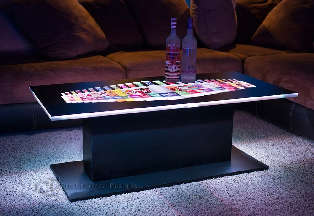 Magnificent Latest Led Coffee Tables Inside Eclipse Modern Led Lighted Coffee Table (Image 37 of 50)