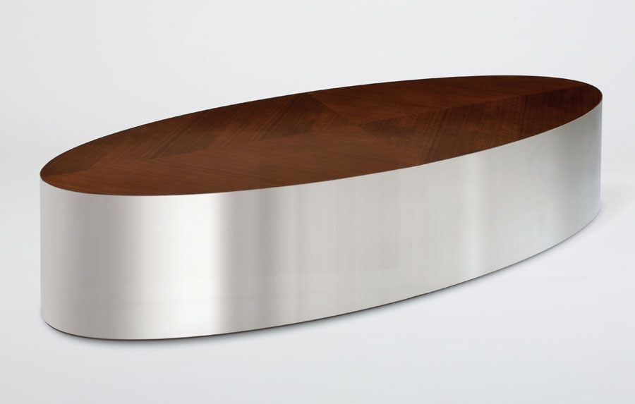Magnificent Latest Metal Oval Coffee Tables With Regard To Rottet Decca Contract (View 11 of 50)